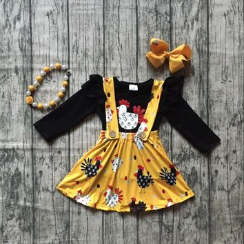Funky Little Chicken Suspender Skirt Set