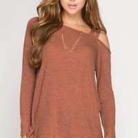 Rust One Shoulder Top