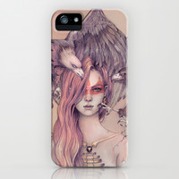 Eagle princess iPhone & iPod Case by LorenAssisi