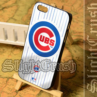 Chicago Cubs Logo - iPhone 4/4s/5/5s/5c Case - Samsung Galaxy S3/S4/S3-mini Case - Black or White