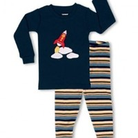"Leveret Little Boy ""Space Rocket"" 2 Piece Pajama 100% Cotton (6M-7-8 Years)"