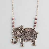 Full Tilt Elephant Necklace Gold One Size For Women 22864862101