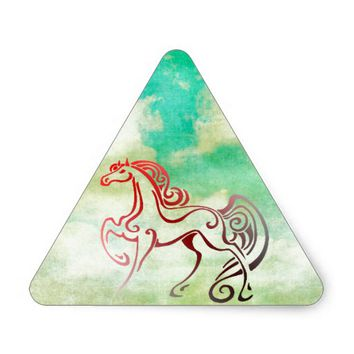 Horse Tails Triangle Sticker