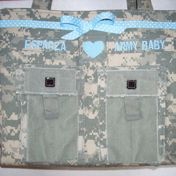 ACU Diaper Bag Army Baby personalized custom camo Military bag
