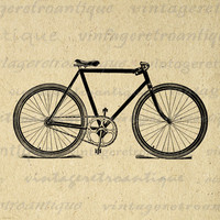 Bicycle Printable Image Graphic Bike Illustration Download Digital Antique Clip Art for Transfers Printing etc HQ 300dpi No.1460
