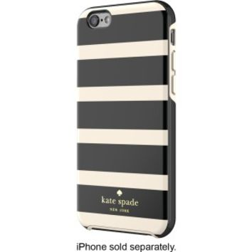 kate spade new york - Kinetic Stripe Hybrid Hard Shell Case for Apple® iPhone® 6 and 6s - Black/Cream