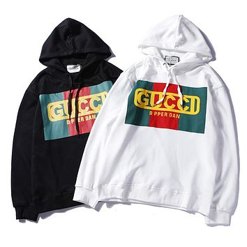 GUCCI Woman Men Fashion Print Hoodie Top Sweater Pullover