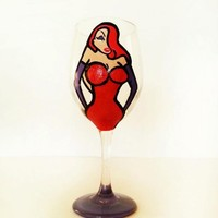 Jessica Rabbit Wine Glass