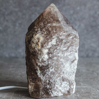 Smoky Quartz Polish Point Lamp