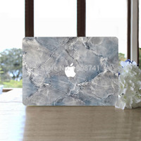 Gray-Blue Marble Grain Full Body Cover Laptop Decal Stickers Case For Apple Macbook Air Pro Retina 11 13 15 Inch Protective Skin