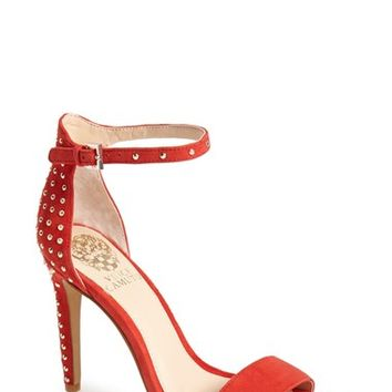 """Women's Vince Camuto 'Fora' Studded Suede Ankle Strap Sandal, 4 1/4"""" heel"""