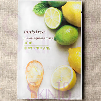 Innisfree It's Real Squeeze Mask - Lime