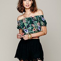 Free People Womens Scalloped Lace Skort