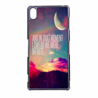 Perks Of A Wall Flower Quote Design Vintage Retro Sony Xperia Z3 Case