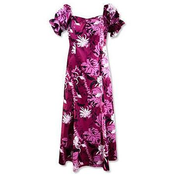 punahou purple hawaiian aikane dress
