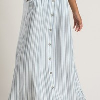 Rowan Blue Striped Maxi Skirt