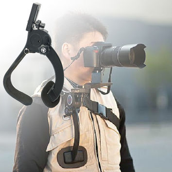 Hands Free Shoulder Strap  Camera Stabilizer Support Pad Bracket Stand   Carry Bag for Video Camera DV / DC Camcorder HD DSLR