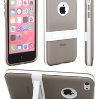 iPhone 5C Case, iPhone 5C Cases, Case Ace(TM) Apple iPhone 5C Case Slim, Ultra Fit With Kickstand Colorfull Case for iPhone 5C (Gray)