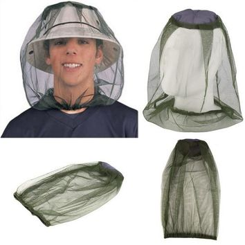 Outdoor Head protection net Anti Mosquito Midge Fly Insect Gauze Net Mask Fishing Camping Face Protect Cap Cover het GYH