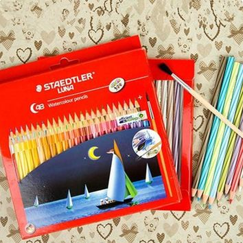 48pcs Colored Pencil  Professional Painting Watercolor Pencil Drawing Sketching Art Supplies With Red Box Set