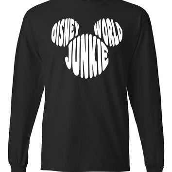 Disney World Junkie Long Sleeve T-Shirt