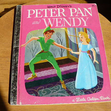 Peter Pan, Golden Book Planner, Weekly Planner 2016, Journal, Planner Charm