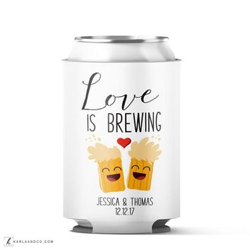 Love is Brewing Custom Wedding Koozie