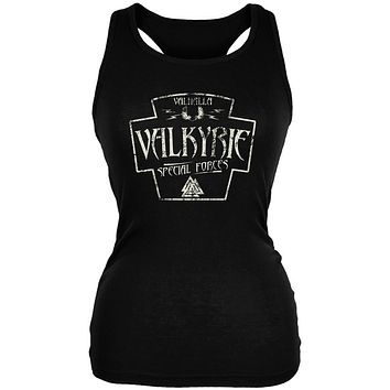 Valkyrie Valhalla Special Forces Retro Vintage Juniors Soft Tank Top