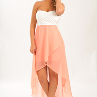 Till I Find You Dress: Cream/Peach