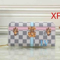 Louis Vuitton LV Fashion Women Clutch bag Leather Wallet Purse