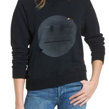 MOTHER 'The Square' Destroyed Graphic Pullover Sweatshirt | Nordstrom