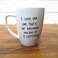 personalized quote mug / coffee cup , personalized mug , coffee mug - f. scott fitzgerald quote
