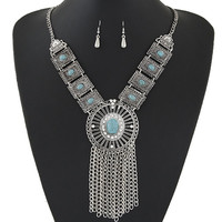 Fashion Bohemian Indian Jewelry Set For Women Tassel  Necklaces