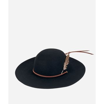 San Diego Hat Company Mens Wool Felt W/ Feather Wide Brim Hat-Black-M | Overstock.com Shopping - The Best Deals on Men's Hats