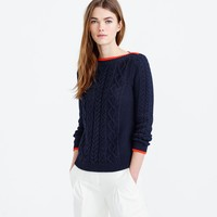 Tipped cable sweater : Women Pullovers   J.Crew