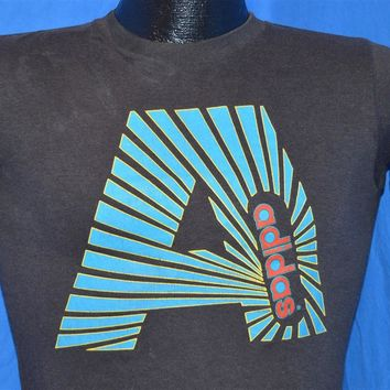 80s Big A Adidas Trefoil Logo t-shirt Youth Large