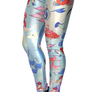 Little Mermaid Leggings Design 33