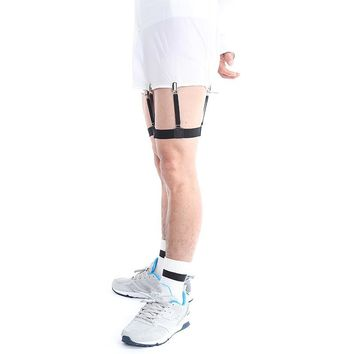 Punk Men Women Gentleman Leg Thigh Elastic Garter Sport Suspender Belt Shirt Stays Mens Shirt Garters Holder Suspenders