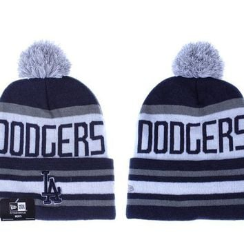 auguau Los Angeles Dodgers Beanies New Era MLB Baseball Hat