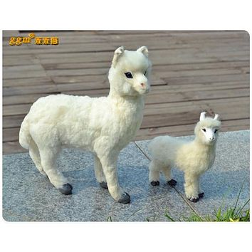 alpaca model toy decoration gift
