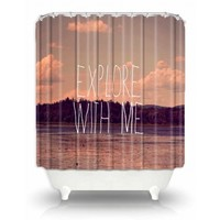 Artistic Shower Curtain | Rachel Burbee | Explore With Me II | Dianoche Designs