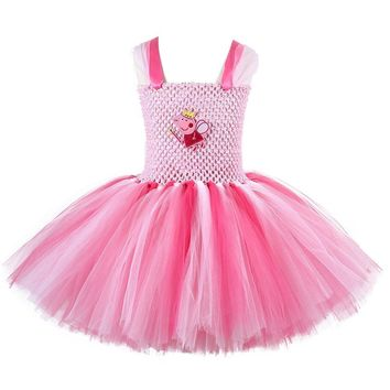 Baby Girl Birthday Party Tutu Dress Little Girls Pig Halloween Cosplay Costume Kids Princess Fluffy Tulle Dresses