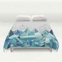 Colorflash 3 mint Duvet Cover by Mareike Böhmer Graphics