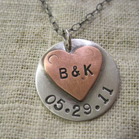 couples initials and anniversary date by SoShe on Etsy