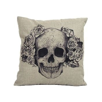 Home Sofa Bed Cars Decoration Vintage Skull Pillowcover Skull Cushion