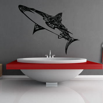 Vinyl Wall Decal Sticker Abstract Shark #OS_AA1383