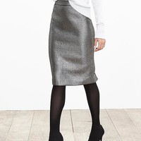 Banana Republic Womens Metallic Jacquard Pencil Skirt