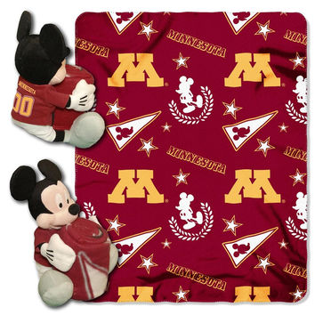 Minnesota Golden Gophers NCAA Mickey Mouse with Throw Combo