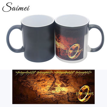 The Lord Of The Rings Saimei Color Change Mug Disappearing Heat Reveal Ceramic Cups Customizable Creative Mug With Gift Box