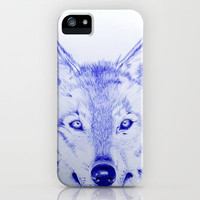 Wolf iPhone & iPod Case by Rachel Herworth